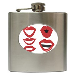 Lip Sexy Red Hip Flask (6 Oz)