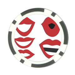Lip Sexy Red Poker Chip Card Guards by AnjaniArt