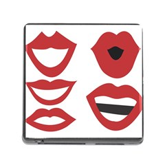 Lip Sexy Red Memory Card Reader (square)