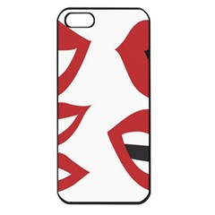 Lip Sexy Red Apple Iphone 5 Seamless Case (black)