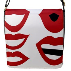 Lip Sexy Red Flap Messenger Bag (s) by AnjaniArt