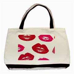 Living Nude Lipstick Featuredimage Basic Tote Bag by AnjaniArt