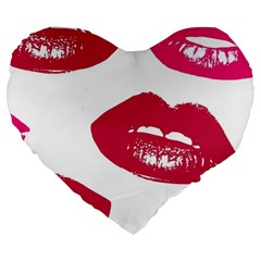 Living Nude Lipstick Featuredimage Large 19  Premium Heart Shape Cushions