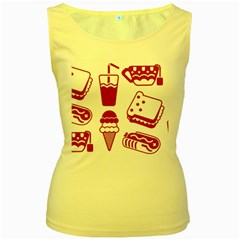 Mad Ice Ernies Tea Bred Women s Yellow Tank Top by AnjaniArt