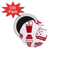 Mad Ice Ernies Tea Bred 1 75  Magnets (100 Pack)  by AnjaniArt