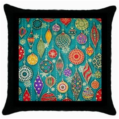 Ornaments Homemade Christmas Ornament Crafts Throw Pillow Case (black) by AnjaniArt
