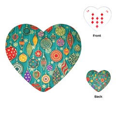 Ornaments Homemade Christmas Ornament Crafts Playing Cards (heart)  by AnjaniArt