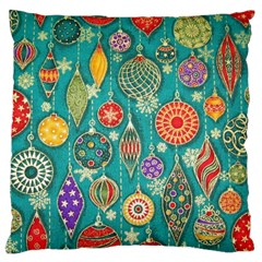 Ornaments Homemade Christmas Ornament Crafts Large Cushion Case (one Side) by AnjaniArt