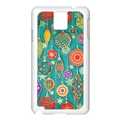 Ornaments Homemade Christmas Ornament Crafts Samsung Galaxy Note 3 N9005 Case (white) by AnjaniArt