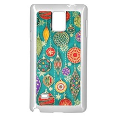 Ornaments Homemade Christmas Ornament Crafts Samsung Galaxy Note 4 Case (white) by AnjaniArt