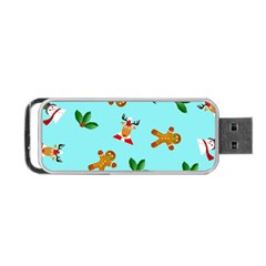 Pattern Merry Christmas Gingerbread Reindeer Man Snowman Holly Portable Usb Flash (one Side)