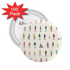 Peopel 2 25  Buttons (100 Pack)