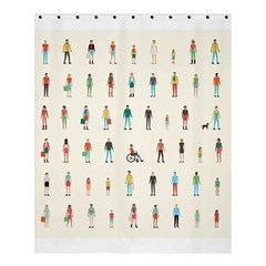 Peopel Shower Curtain 60  X 72  (medium)  by AnjaniArt