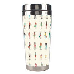 Peopel Stainless Steel Travel Tumblers by AnjaniArt