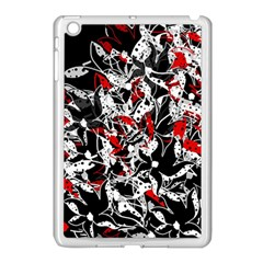 Red Abstract Flowers Apple Ipad Mini Case (white) by Valentinaart