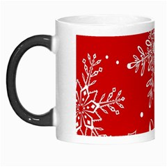 Red Winter Holiday Pattern Red Christmas Morph Mugs by AnjaniArt