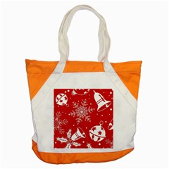 Red Winter Holiday Pattern Red Christmas Accent Tote Bag