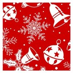 Red Winter Holiday Pattern Red Christmas Small Memo Pads 3.75 x3.75  Memopad