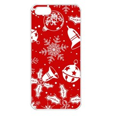 Red Winter Holiday Pattern Red Christmas Apple Iphone 5 Seamless Case (white)