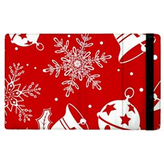 Red Winter Holiday Pattern Red Christmas Apple Ipad 3/4 Flip Case