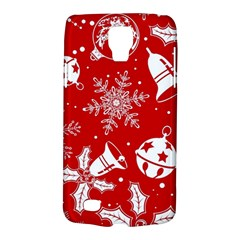 Red Winter Holiday Pattern Red Christmas Galaxy S4 Active by AnjaniArt