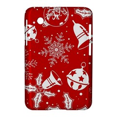 Red Winter Holiday Pattern Red Christmas Samsung Galaxy Tab 2 (7 ) P3100 Hardshell Case  by AnjaniArt