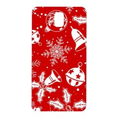 Red Winter Holiday Pattern Red Christmas Samsung Galaxy Note 3 N9005 Hardshell Back Case by AnjaniArt