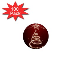 Shiny Christmas Tree 1  Mini Magnets (100 Pack)  by AnjaniArt