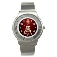 Shiny Christmas Tree Stainless Steel Watch