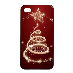 Shiny Christmas Tree Apple Iphone 4/4s Seamless Case (black)