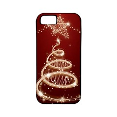 Shiny Christmas Tree Apple Iphone 5 Classic Hardshell Case (pc+silicone) by AnjaniArt
