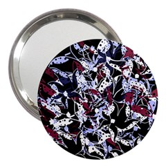 Decorative Abstract Floral Desing 3  Handbag Mirrors by Valentinaart