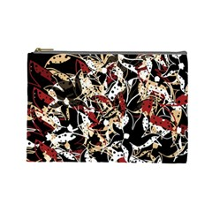 Abstract Floral Design Cosmetic Bag (large)