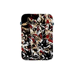Abstract Floral Design Apple Ipad Mini Protective Soft Cases by Valentinaart