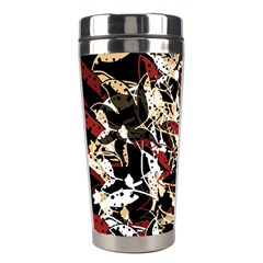 Abstract Floral Design Stainless Steel Travel Tumblers by Valentinaart