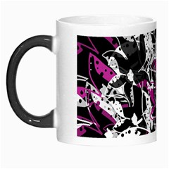 Purple Abstract Flowers Morph Mugs by Valentinaart