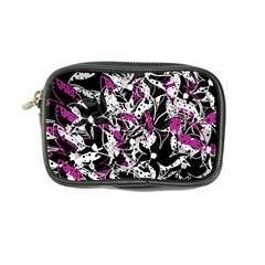 Purple Abstract Flowers Coin Purse