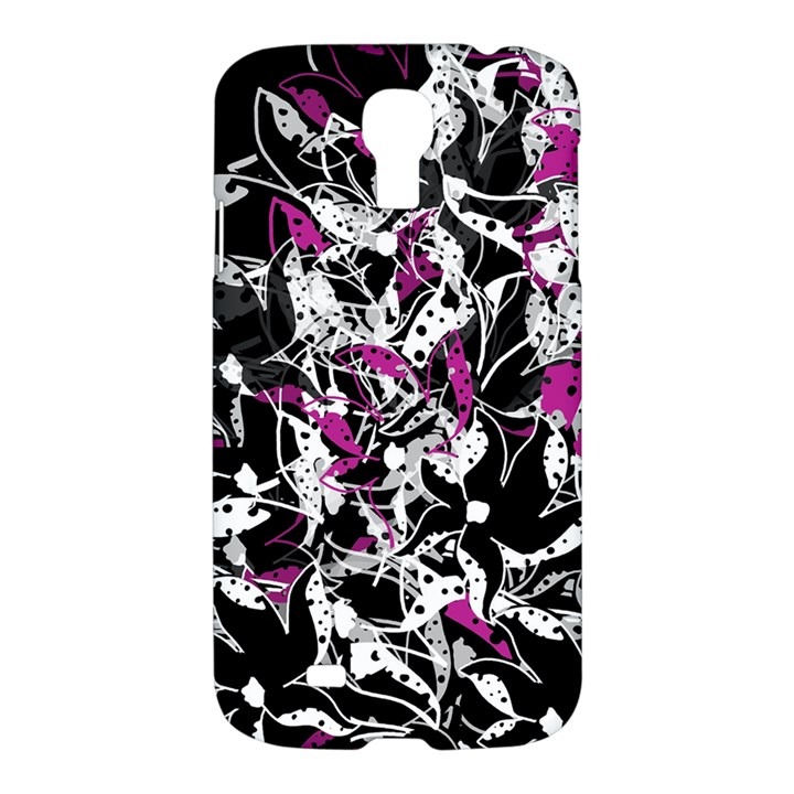 Purple abstract flowers Samsung Galaxy S4 I9500/I9505 Hardshell Case