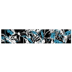Blue Abstract Flowers Flano Scarf (small) by Valentinaart