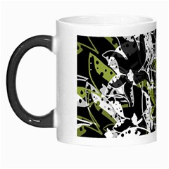 Green Floral Abstraction Morph Mugs by Valentinaart