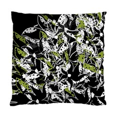 Green Floral Abstraction Standard Cushion Case (one Side)