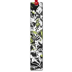Green Floral Abstraction Large Book Marks by Valentinaart