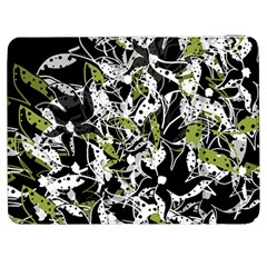 Green Floral Abstraction Samsung Galaxy Tab 7  P1000 Flip Case by Valentinaart