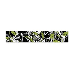 Green Floral Abstraction Flano Scarf (mini) by Valentinaart