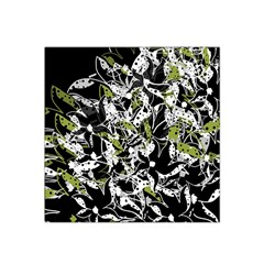 Green Floral Abstraction Satin Bandana Scarf by Valentinaart