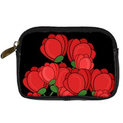 Red Tulips Digital Camera Cases by Valentinaart