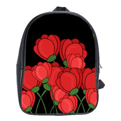Red Tulips School Bags(large)