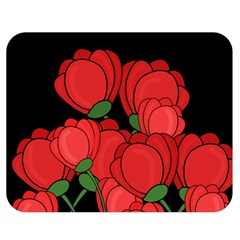Red Tulips Double Sided Flano Blanket (medium)
