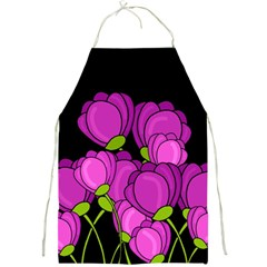 Purple Tulips Full Print Aprons by Valentinaart