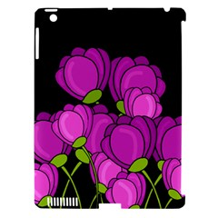 Purple Tulips Apple Ipad 3/4 Hardshell Case (compatible With Smart Cover)
